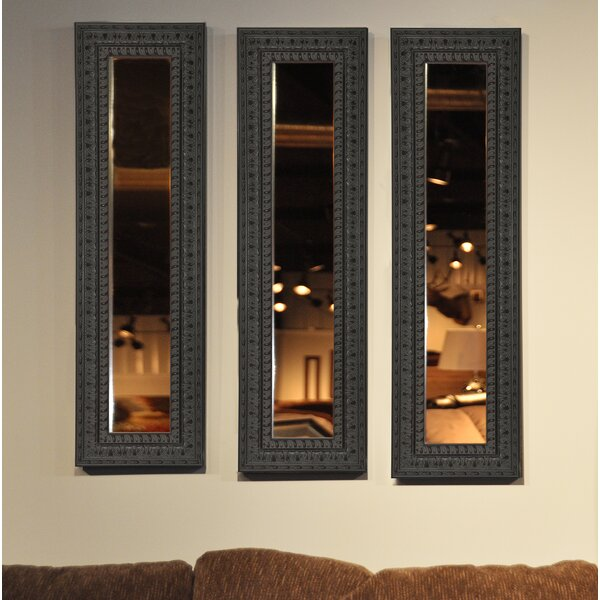 3 Piece Derrill Panels Mirror Set (Set of 3) by Astoria Grand