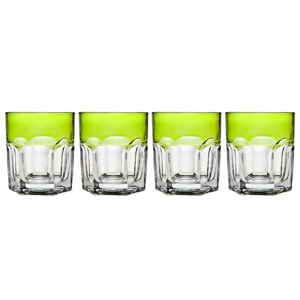 Theo DOF 9 oz. Crystal Cocktail Glass (Set of 4) by Godinger Silver Art Co
