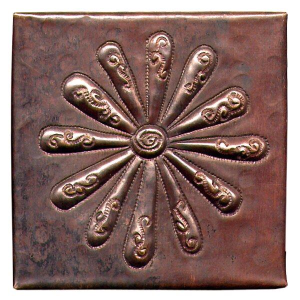 Burst 4 x 4 Copper Tile in Dark Copper by D'Vontz