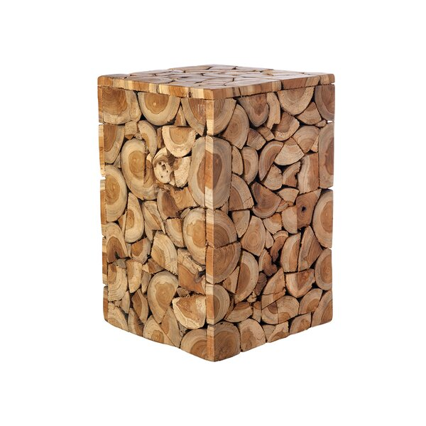 Briscoe Wood Accent Stool by Foundry Select