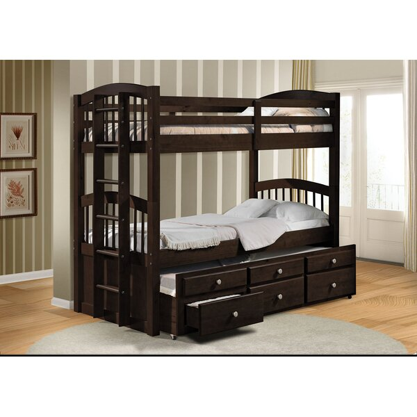 Artis Twin Over Twin Bunk Bed with Drawers by Harriet Bee