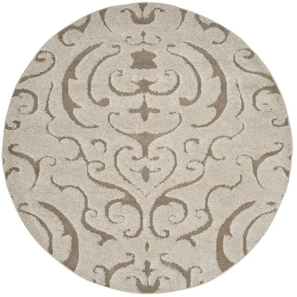 Elwin Florida Shag Cream/Beige Area Rug by Alcott Hill