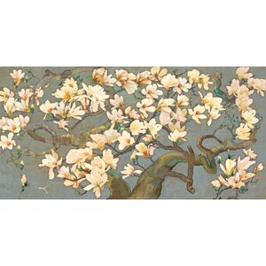 'Magnolia Branches Iv' by Evelia Painting Print on Wrapped Canvas by Marmont Hill