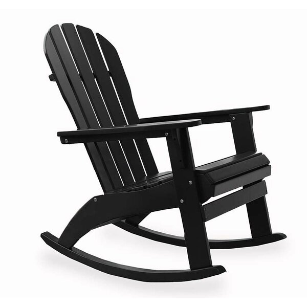 Solid Wood Rocking Adirondack Chair by Plow & Hearth