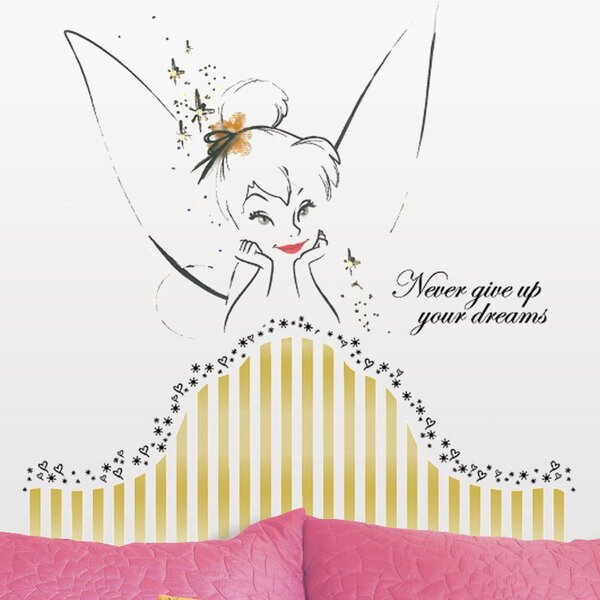 Popular Characters Disney Fairies Tinkerbell Headboard Giant Wall Decal by Room Mates