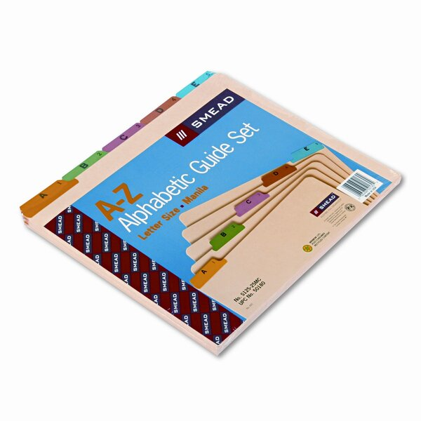 Alpha Recycled Top Tab File Guides, 25/Set by Smead Manufacturing Company