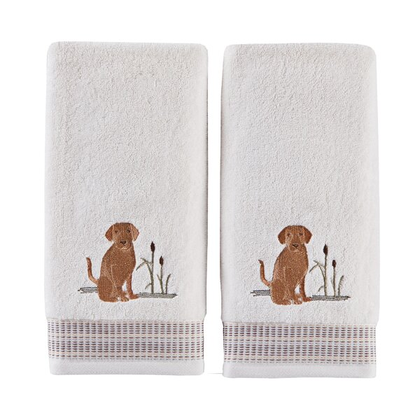 Otha Dogs Cotton Hand Towel (Set of 2) by Winston Porter
