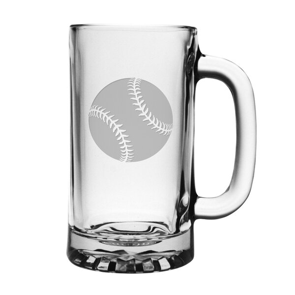 Baseball Pub Beer Mug (Set of 4) by Susquehanna Glass