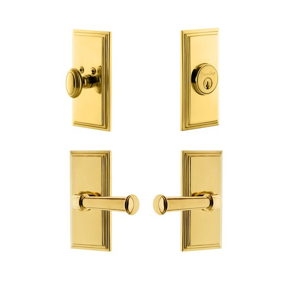 Carre Single Cylinder Knob Combo Pack Georgetown Lever by Grandeur