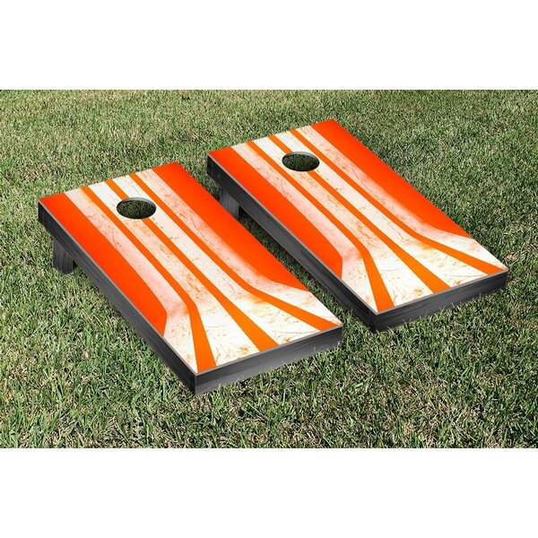 Orange Stripes Cornhole Game Set by Victory Tailgate