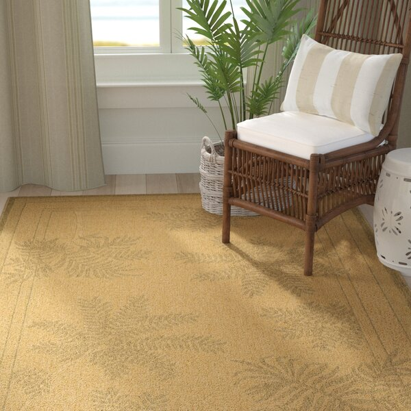 Amaryllis Natural/Gold Indoor/Outdoor Area Rug by Bay Isle Home