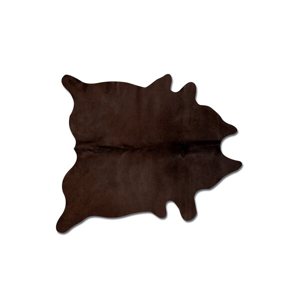Plainsboro Handmade Chocolate Cowhide Area Rug by Latitude Run