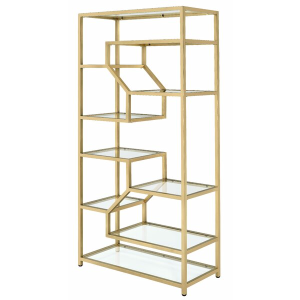 Alida Geometric Bookcase By Everly Quinn