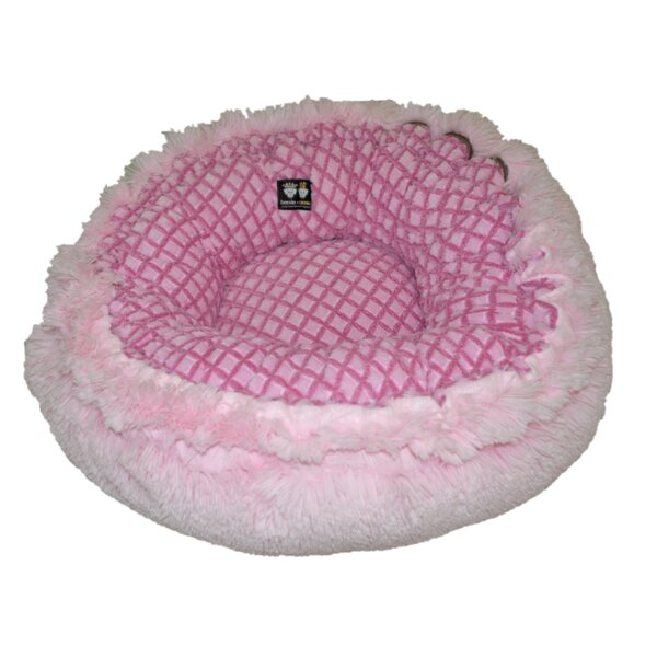 Hybrid Bagel Bolster Dog Bed with Cotton Candy Fence by Bessie and Barnie