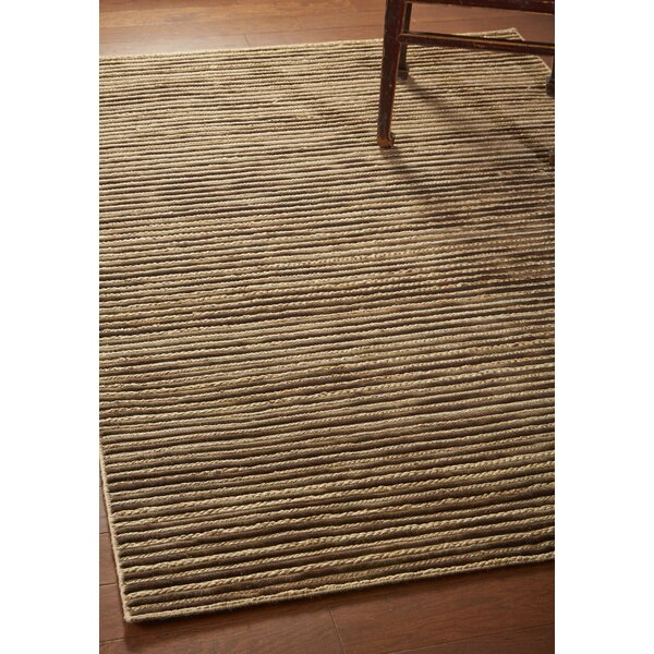 Vitagliano Striped Hand-Tufted Coffee Area Rug by Millwood Pines