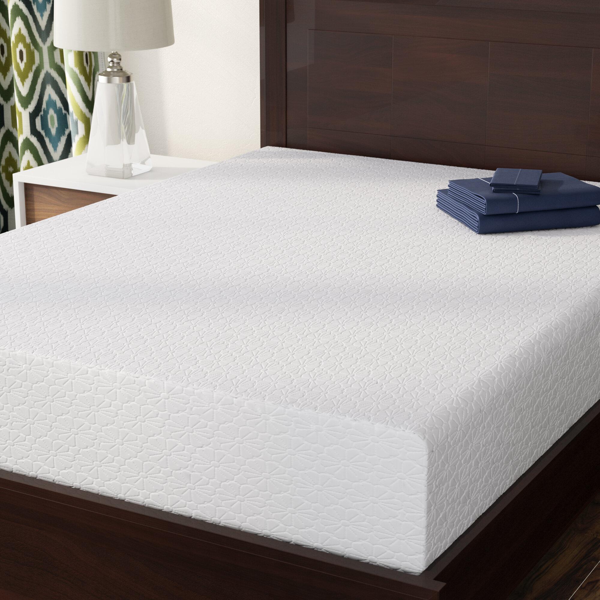 alwyn home 10 medium memory foam mattress reviews wayfair