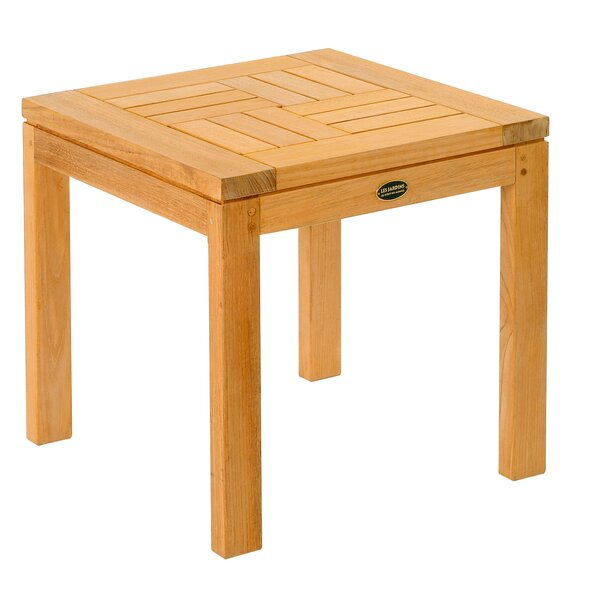 Teak Criss - Cross Side Table by Les Jardins