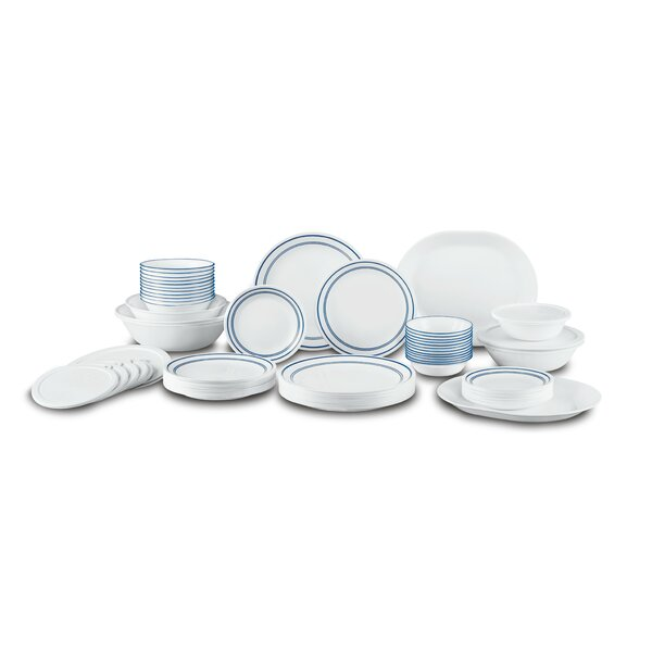 Classic Cafe Living Ware 74 Piece Dinnerware Set, Service for 12 by Corelle