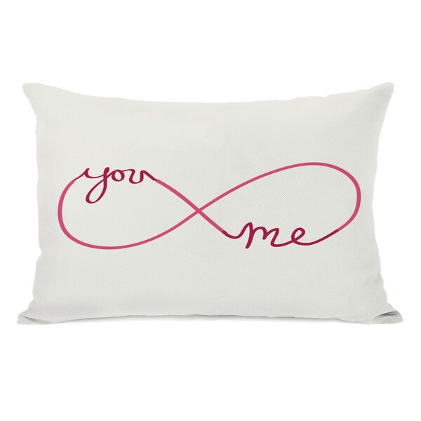 Infinite You Me Lumbar Pillow by One Bella Casa