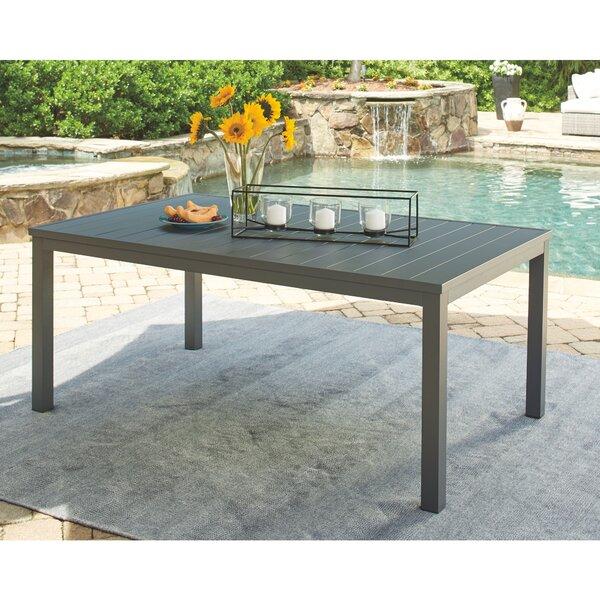 Aluminum Dining Table by Latitude Run