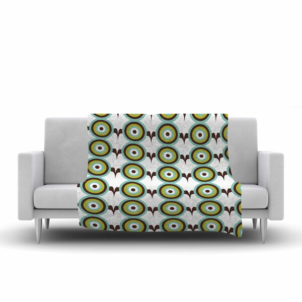 Afe Images Retro Circles Illustration Fleece Throw by East Urban Home