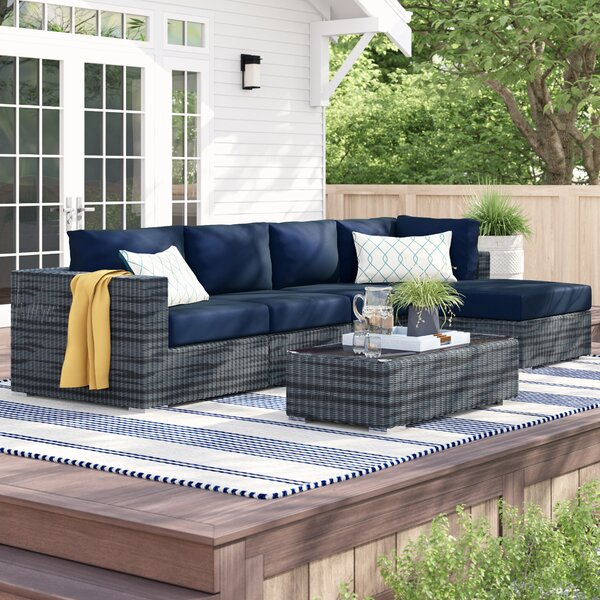 Keiran 5 Piece Sunbrella Sectional Set With Cushions By Brayden Studio by Brayden Studio Amazing