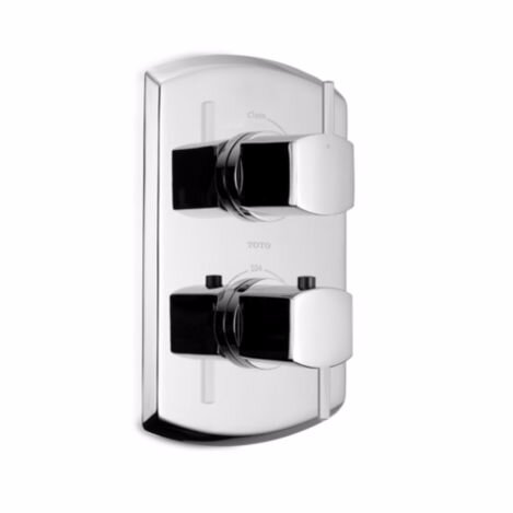 Soiree Lever Type SMA Valve Trim with Volume Control in Polished Chrome by Toto