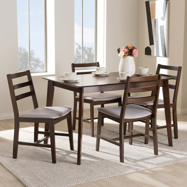 Winfree Upholstered 5-Piece Dining Set by Gracie Oaks