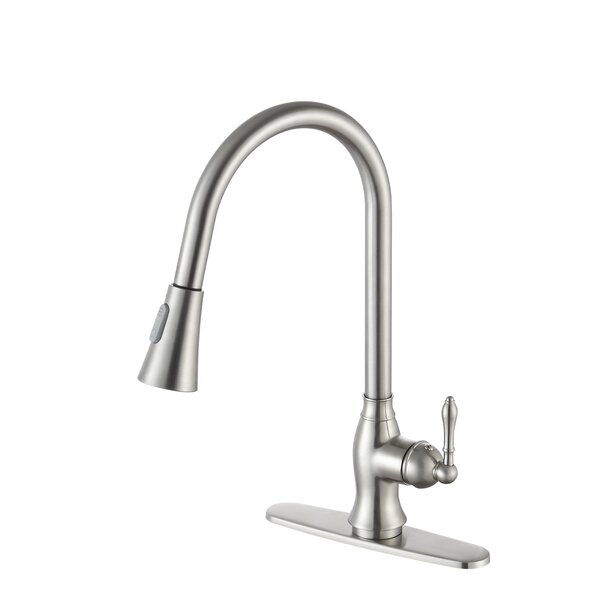 Rodeo Series Pull Out Single Handle Kitchen Faucet by ANZZI