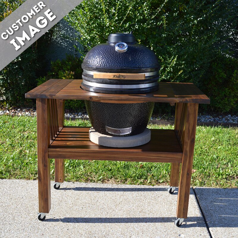 """Kamado Joe Outdoor Kitchen: Duluth Forge 16.5"""" Kamado Built-In Charcoal Grill With"""
