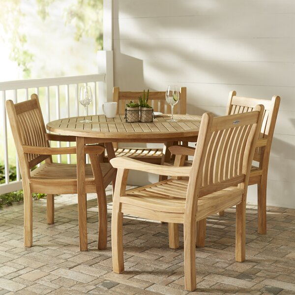 Georgia-May 5 Piece Teak Dining Set by Darby Home Co
