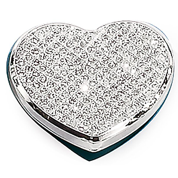 Fitz Sparkle Heart Makeup Mirror by House of Hampton