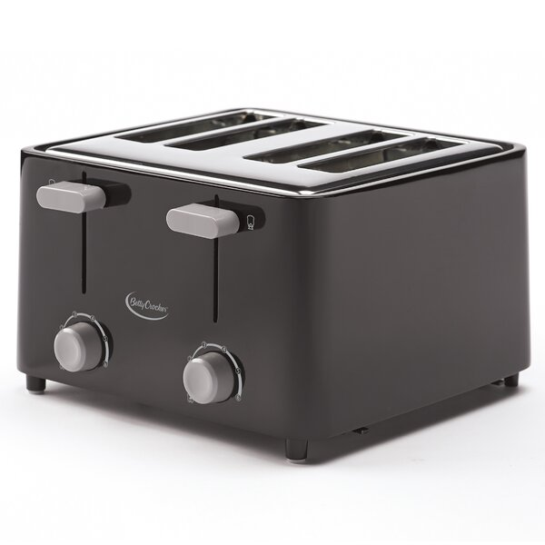 4 Slice Cool Wall Toaster by Betty Crocker