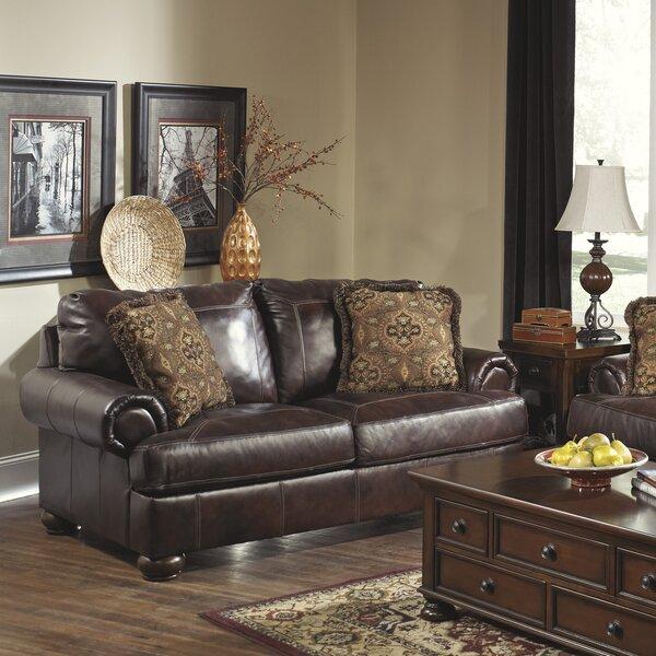 Special Saving Stewartsville Leather Loveseat by Fleur De Lis Living by Fleur De Lis Living
