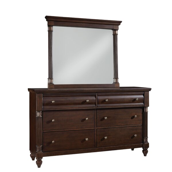 Cruz 6 Drawer Double dresser with Mirror by Darby Home Co