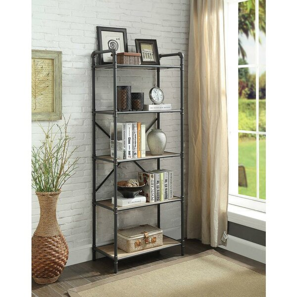 Crofoot Industrial 5 Tier Shelf Etagere Bookcase by 17 Stories