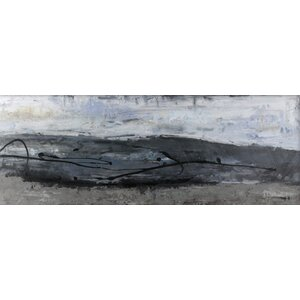 Gray Abstract by Tina O. Painting Print on Wrapped Canvas by Hobbitholeco.