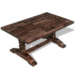 Larbi Solid Acacia Wood Coffee Table