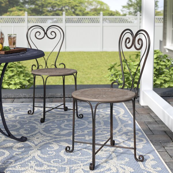 Allegra Patio Dining Chair (Set of 2) by Ophelia & Co.