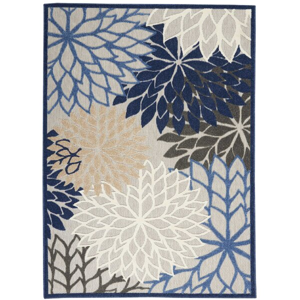 Weon Contemporary Flatweave Blue/Gray Indoor/Outdoor Area Rug by Winston Porter