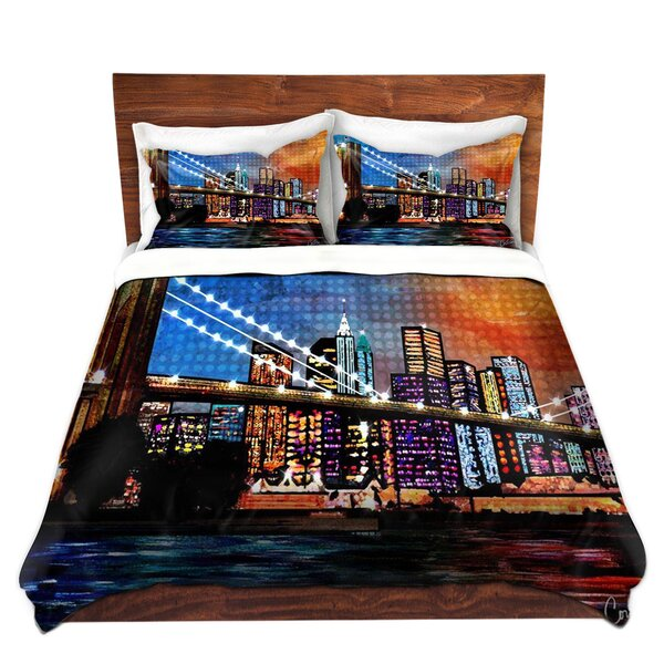 Brooklyn Bridge Duvet Set by East Urban Home