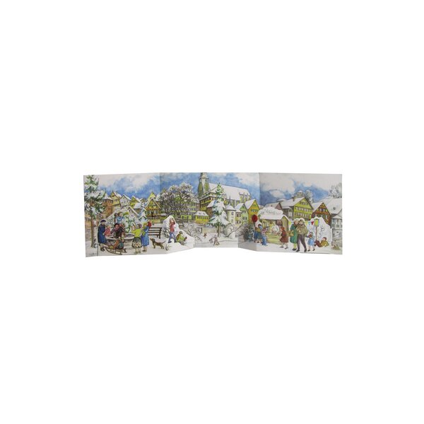 Sellmer Street Panorama Scene Advent Calendar by The Holiday Aisle