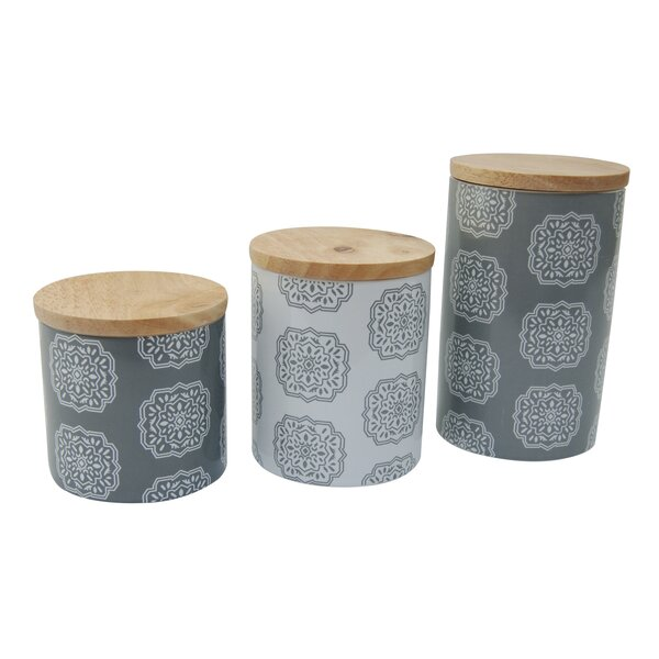 Ceramic 3 Piece Kitchen Canister Set by Mint Pantry