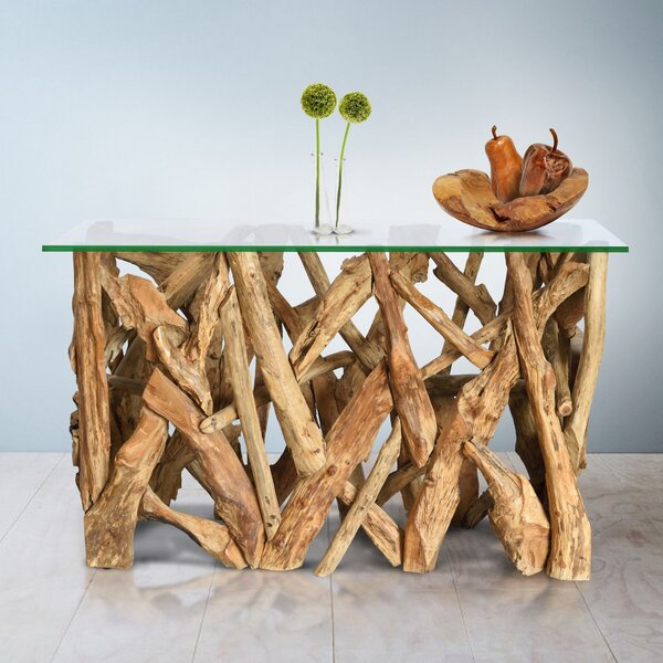 Check Price Driver Solid Wood Console Table