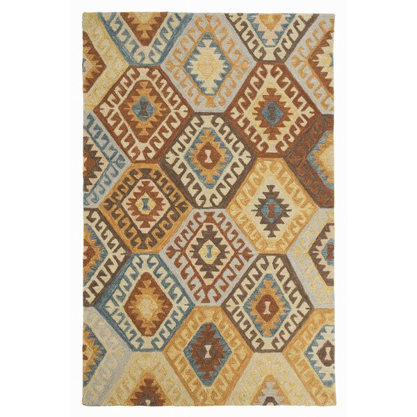 Pinchot Hand-Tufted Wool Blue/Brown Area Rug by Loon Peak