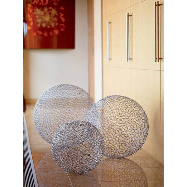 3 Piece Huge Iron Decorative Ball Set by Kindwer