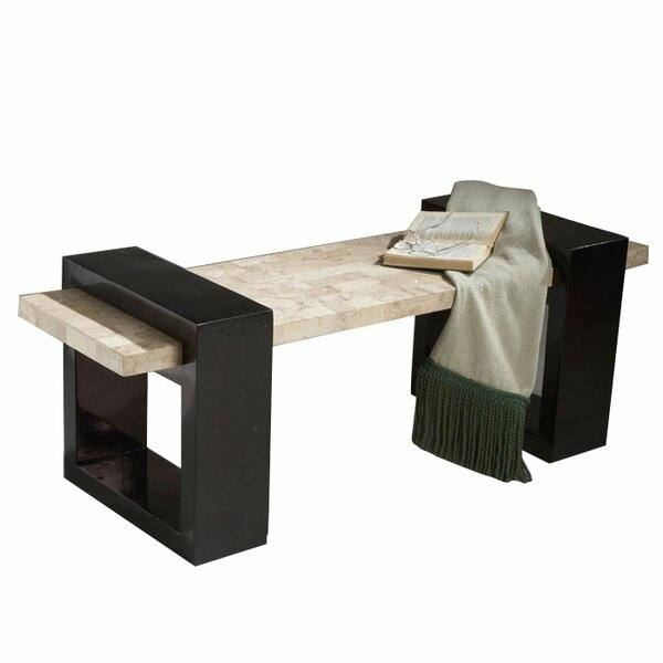 Deanery Fossil Stone Veneer Bench by World Menagerie
