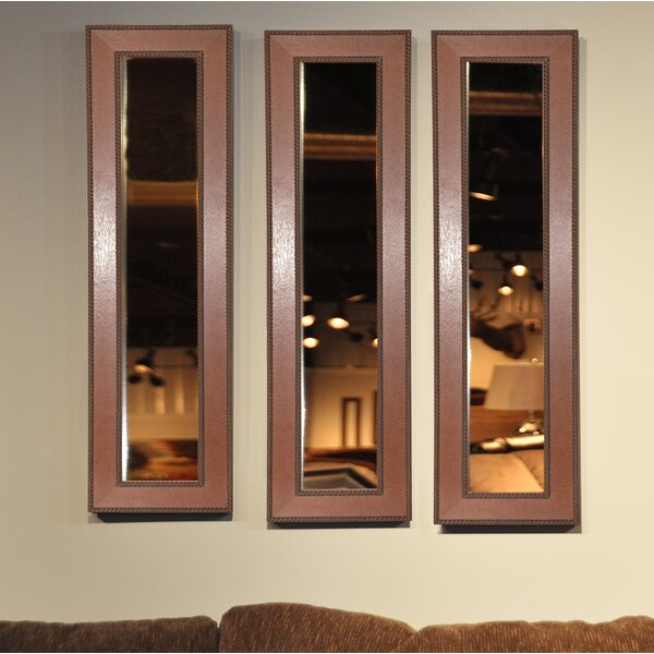 3 Piece Dunnam Western Rope Panels Mirror Set (Set of 3) by Darby Home Co