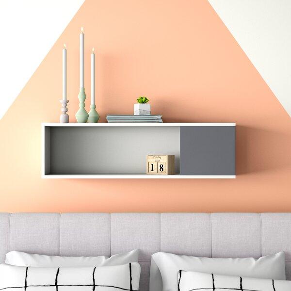 Wood Grey Wall Mounted Tabarez Living Dining Hallway 4 Piece Floating Shelf Set