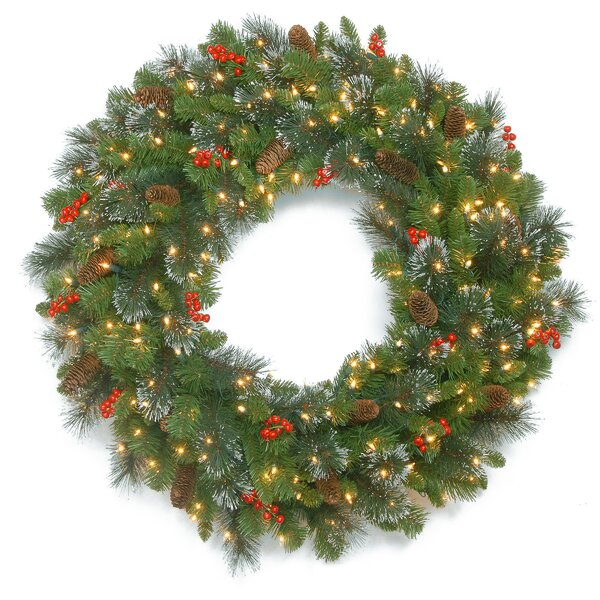 30 Spruce Lighted Wreath by Darby Home Co